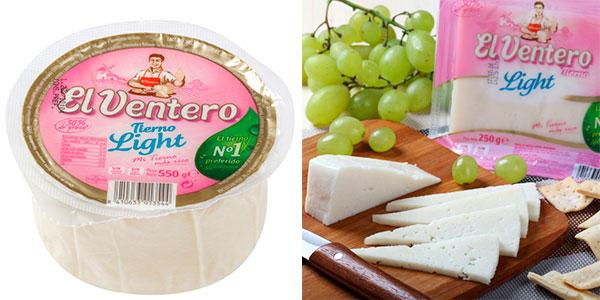 Queso tierno El Ventero Light (550 g) en oferta