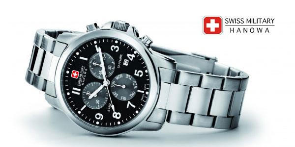 Reloj analógico Swiss Military Hanowa Swiss Soldier Chrono Prime en acero inoxidable para hombre chollazo en Amazon