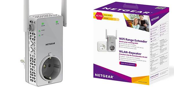 Repetidor WiFi Netgear EX3800-100PES AC750 Dual Band
