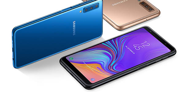 Samsung Galaxy A7 (2018) en color negro