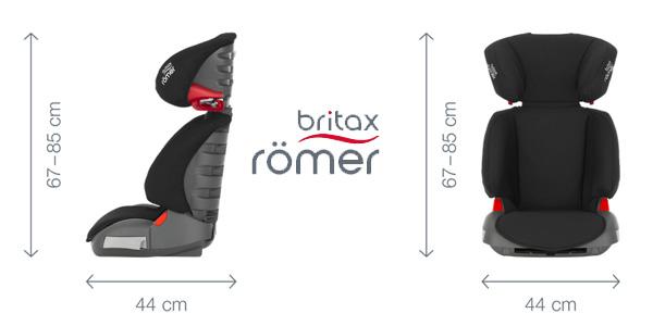 Silla de coche Britax Römer Adventure para grupo 2/3 en color negro chollazo en Amazon