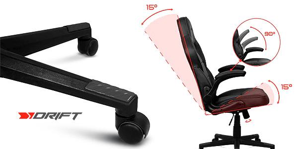 Silla gaming giratoria Drift DR75 con reposabrazos abatibles chollo en Amazon