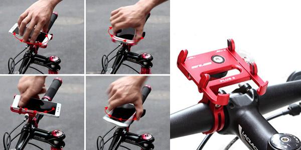 """Soporte de bicicleta Lixada GUB 6 profesional para smarthones de hasta 6,2"""" en varios colores chollazo en Amazon"""