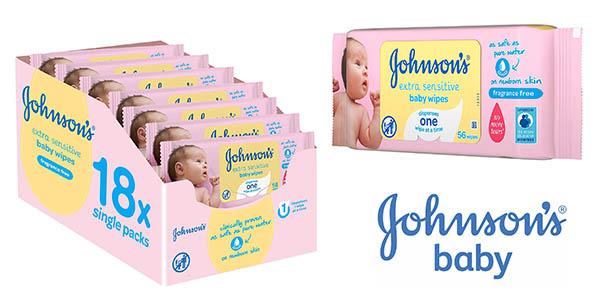 toallitas para bebé Johnson's Baby extra sensibilidad baratas