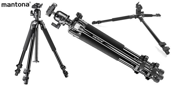 Trípode fotografía Mantona Pro Makro II de 151 cm barato en Amazon