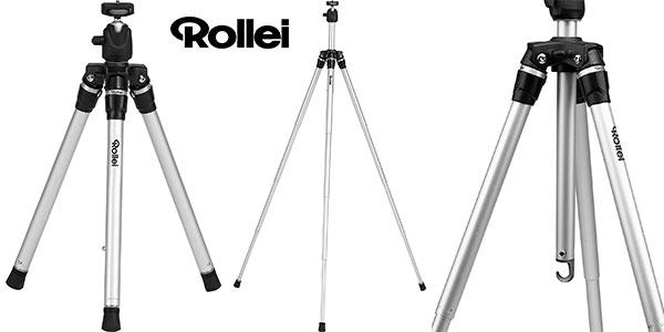 Trípode Rollei Compact Traveler Star S3 Plus de aluminio con cabezal esférico panorámico barato