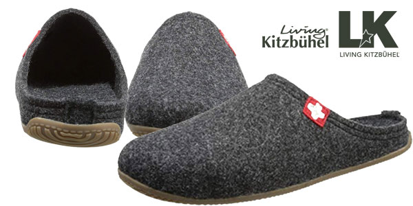 0f08434d4 Zapatillas de estar por casa Living Kitzbühel en gris o negro para hombre  chollazo en Amazon