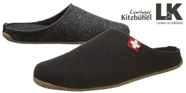 Zapatillas de estar por casa Living Kitzbühel en gris o negro para hombre baratas en Amazon