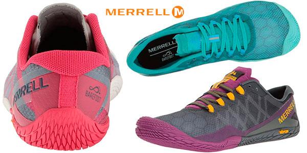 Zapatillas deportivas Merrell Vapor Glove 3 indoor para mujer baratas