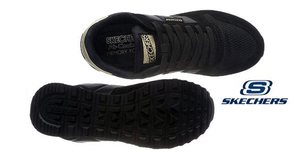 Zapatillas deportivas Skechers OG 85-Clasix en negro para mujer chollazo en Amazon
