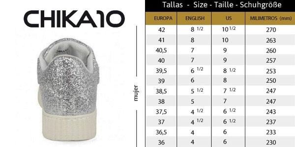 Zapatillas glitter Chika10 Rinara02 plata para mujer chollazo en eBay