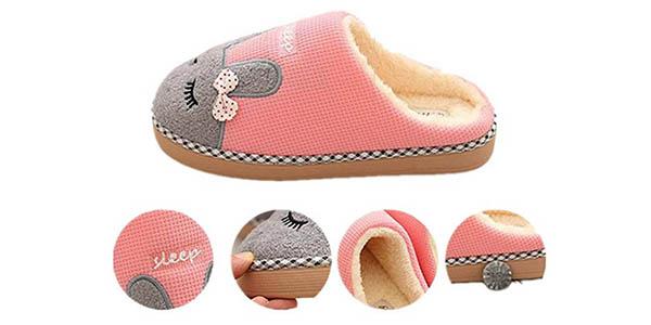zapatillas de invierno Saguaro con forro de borrego y gran relación calidad-precio