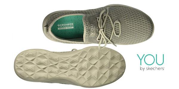 Zapatillas Skechers Serene-Tranquility color gris chollazo en Amazon