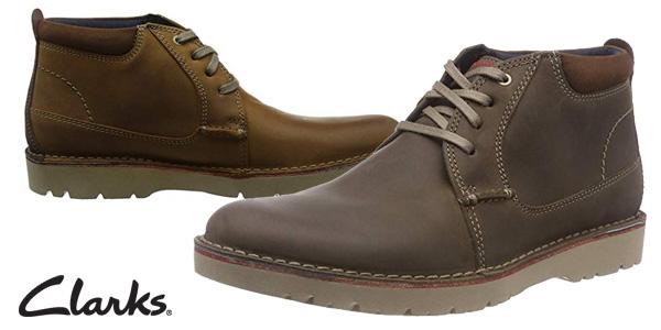 Zapatos de cordones Clarks Vargo Mid para hombre baratos en Amazon