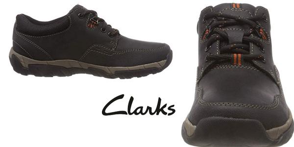 Zapatos de cordones Clarks Walbeck Edge II en negro para hombre chollazo en Amazon