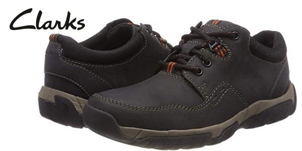 Zapatos de cordones Clarks Walbeck Edge II en negro para hombre baratos en Amazon