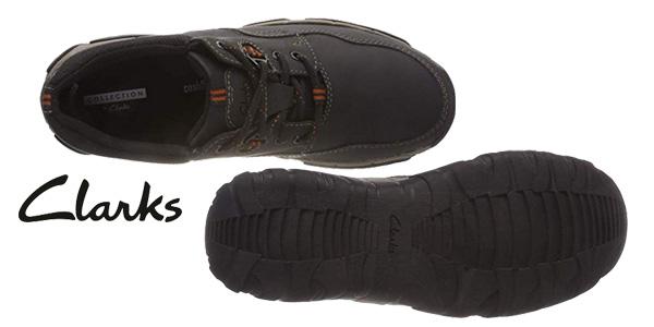 Zapatos de cordones Clarks Walbeck Edge II en negro para hombre chollo en Amazon