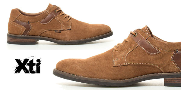 03878292e Chollazo Zapatos de piel Xti Alberto color camel para hombre por ...