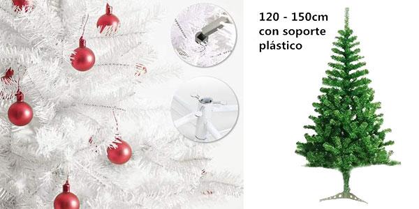 Árbol de Navidad artificial con soporte metálico de 120 cm chollo en Amazon