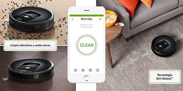 aspirador robot con aplicación móvil Roomba 981 chollo