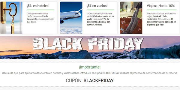 Black Friday Destinia cupón descuento viajes 2018