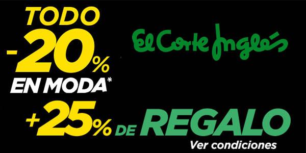 4f8862430 20% en Moda El Corte Inglés y devolución del 25% del importe en ...