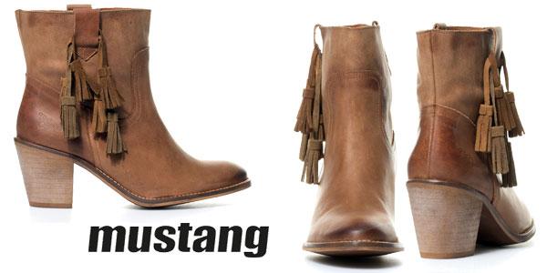 Botines de piel Mustang Narcis para mujer chollazo en eBay