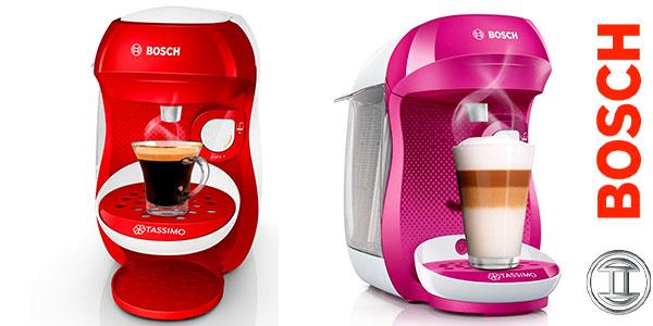 Cafetera automática multibebida Bosch Tassimo Happy barata