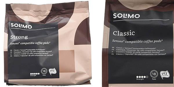 cápsulas de café Solimo compatibles con cafeteras Senseo pack ahorro
