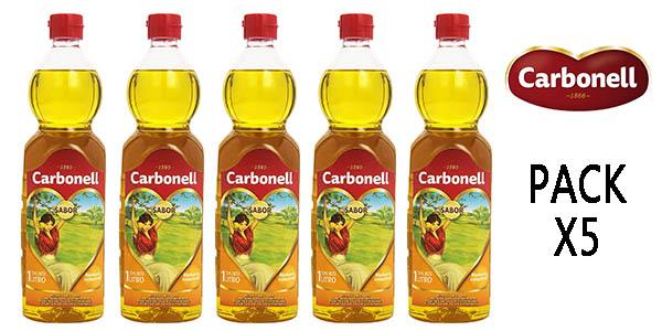 Carbonell aceite de oliva pack ahorro botellas de 1 litro oferta