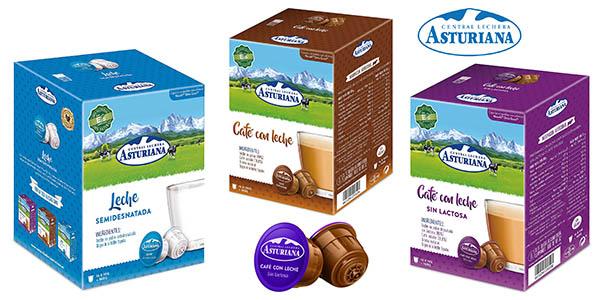 Central Lechera Asturiana cápsulas de leche y café baratas compatibles máquinas Dolce Gusto