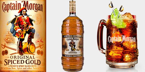 Botella de Ron Captain Morgan Original Spiced Gold Ed. Limitada (1.500 ml) en oferta