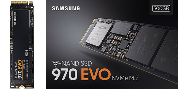 Chollo Disco SSD Samsung 970 EVO de 500 GB