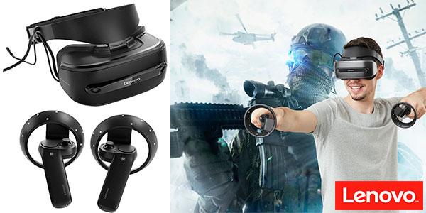 Chollo Gafas de realidad virtual Lenovo Explorer con controladores de movimiento