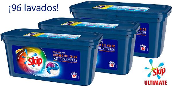 Chollo Pack Detergente Skip Ultimate Triple Poder Cuidado del Color (96 lavados)