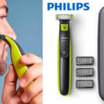 Chollo Pack Recortador de barba Philips OneBlade recargable + estuche