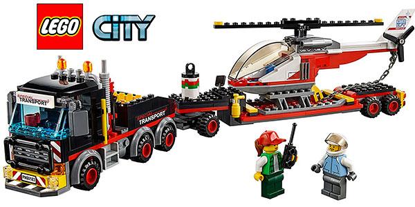 Chollo Set Camión de transporte y helicóptero LEGO City con 2 minifiguras