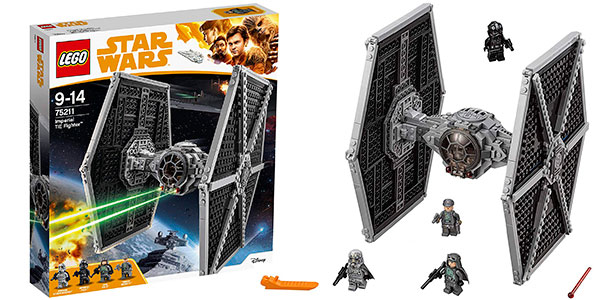 Chollo Set Caza Tie Imperial de LEGO Star Wars con 4 minifiguras
