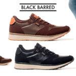 Zapatillas Black Barred Matthew en 2 modelos para hombre baratas