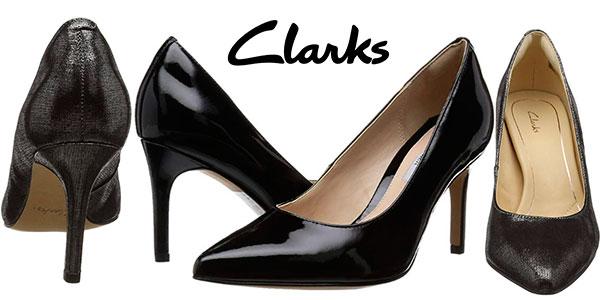 Chollo Zapatos Clarks Dinah Keer de tacón de 8,5 cm en 2 modelos para mujer