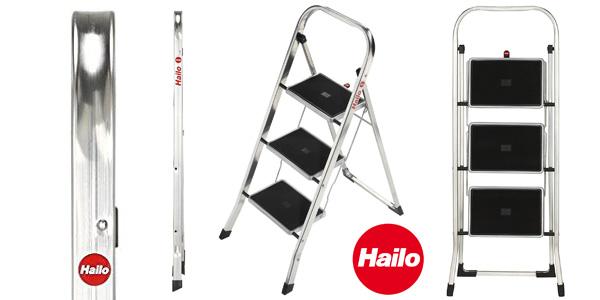 Escalerilla de 3 peldaños antideslizantes Hailo K30 chollo en Amazon
