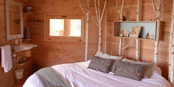 escapada rural con alojamiento en cabaña en los árboles oferta