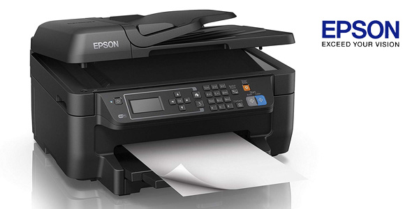 Impresora multifunción 4-en-1 Epson Workforce WF-2750DWF inyección de tinta con WiFi chollo en Amazon