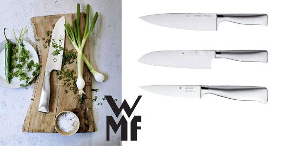 Set de cuchillos de cocina WMF Top Tools y tijeras con base metálica (6 piezas) chollo en Amazon
