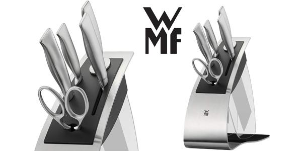Set de cuchillos de cocina WMF Top Tools y tijeras con base metálica (6 piezas) barato en Amazon