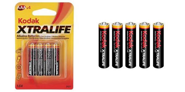 Kodak Xtralife pilas alcalinas AAA K3A chollo