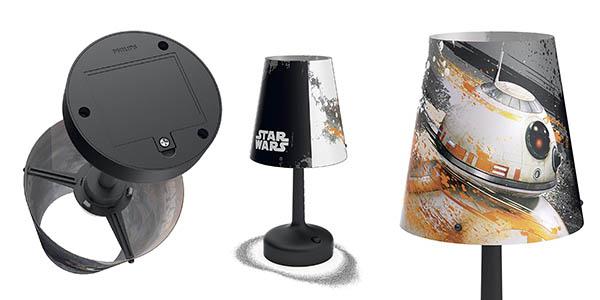 lámpara infantil Philips Star Wars luz de ambiente chollo