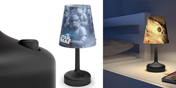 lámpara de mesa Philips Star Wars ideal como quitamiedos infantil oferta
