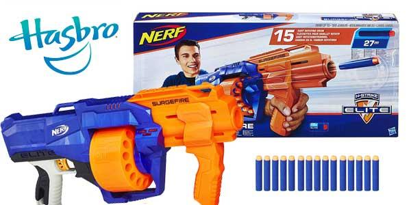 Lanzadardos Nerf Elite Surgefire Hasbro ES0011EU4 barato en Amazon