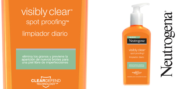 Limpiador facial Neutrogena Visibly Clear Spot Proofing de 200 ml barato en Amazon